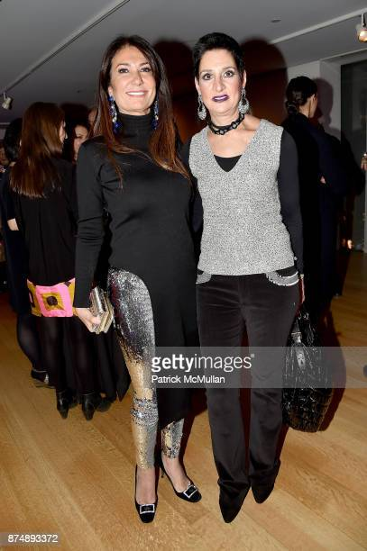 Nazee Moinian and Laurel Marcus attend Barbara Tober hosts a party for AVEDON Something Personal at Museum of Art and Design on November 15 2017 in...