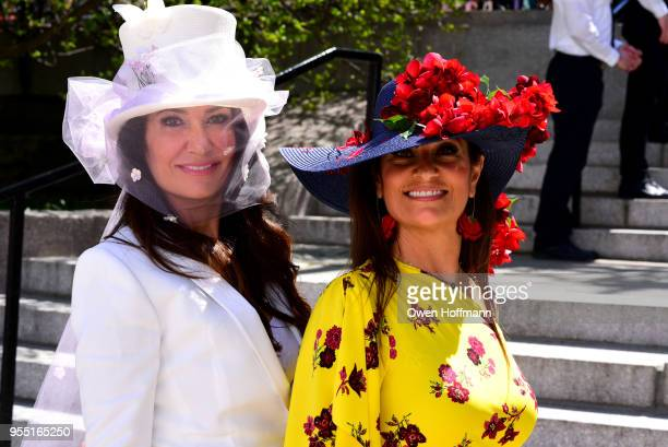 Nazee Moinian and Soheila Adelipour attend 36th Annual Frederick Law Olmsted Awards Luncheon Central Park Conservancy at The Conservatory Garden in...