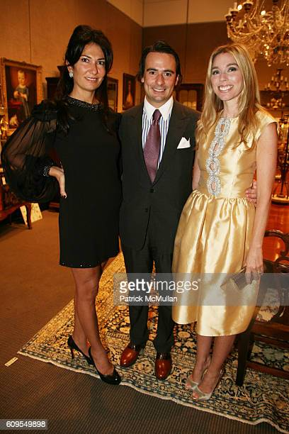 Nazee Moinian Louis Rose and Alexandra Lind Rose attend Cocktail Reception at CHRISTIE'S to Kickoff The Society of Memorial SloanKettering Cancer...