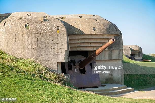 Nazi cannon and bunker, Normandy France