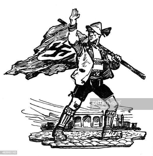 Nazi cartoon 1940 A print from Wie die Oftmark ihre Befreiung erlebte Berlin 1940
