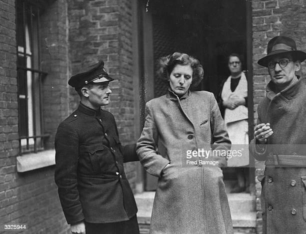 Nazi collaborator and sweetheart to SS leaders Madame Aldegonda Zeguers awaiting trial for luring a young Dutch patriot to his death.