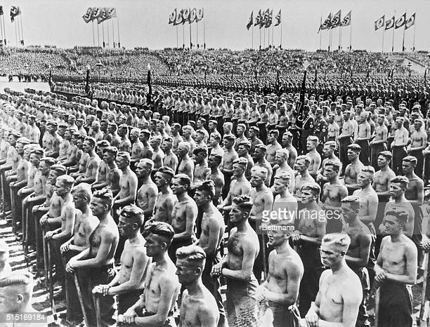 Nazi Construction Crews at Nuremburg Rally
