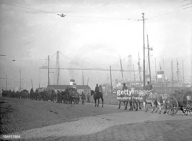 Nazi convoy at Marseille's harbour in 1943