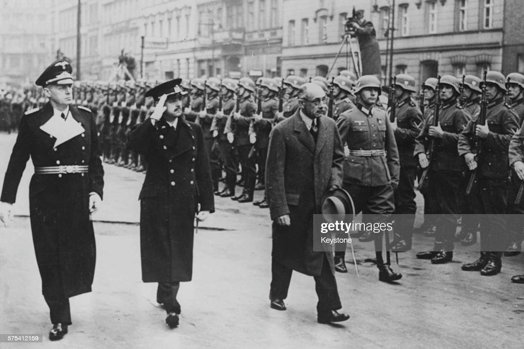 Joachim Von Ribbentrop, Pal Teleki And Istvan Csaky : News Photo
