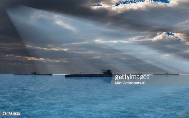 nazi german u-boats. - battle of the atlantic stock pictures, royalty-free photos & images