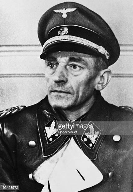 Nazi Germany. K. H. Frank Reichs, protektor of Bohemia and Moravia in 1939 . Hanged at Nuremberg.