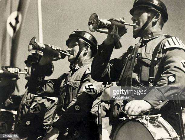 1938 Trumpeters at a Nazi party rally in Nuremberg