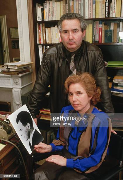 Nazi hunters Serge and Beate Klarsfeld hold a photograph of Josef Mengele. In March 1971, Beate Klarsfeld tracked down Klaus Barbie, who served as a...