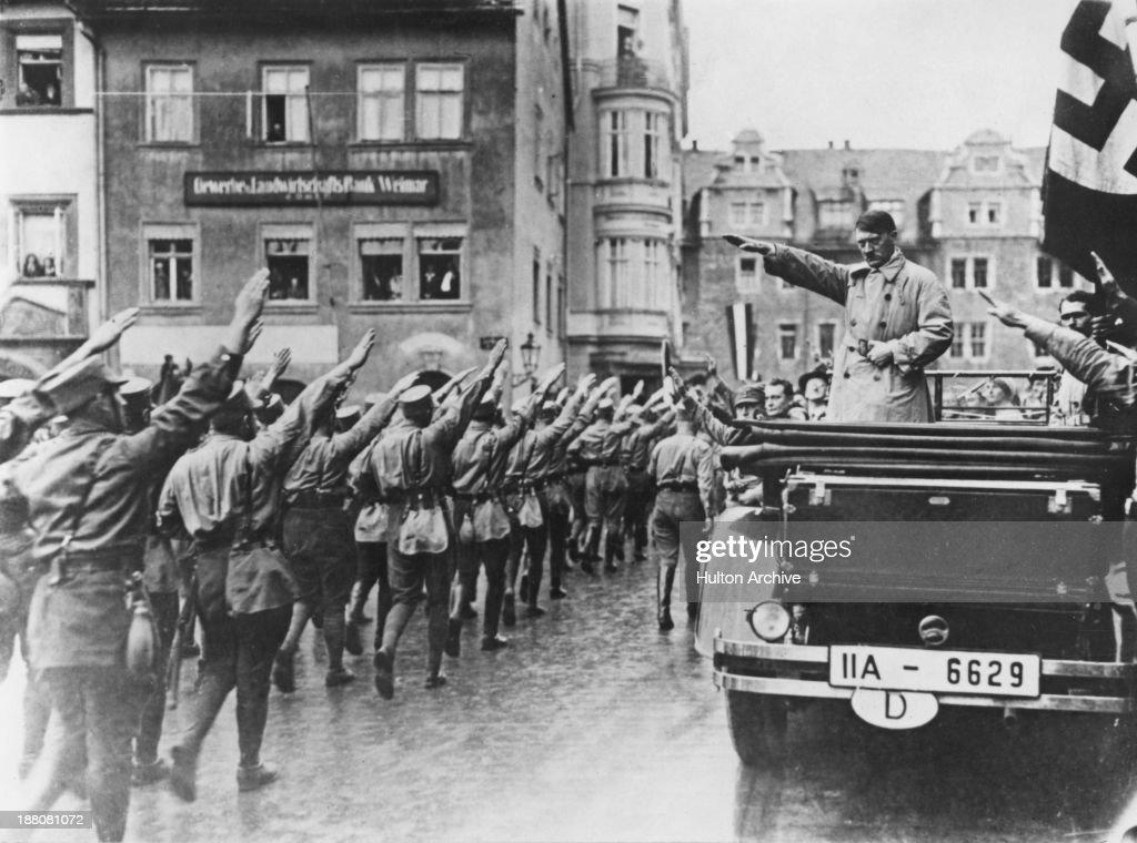 Hitler In Weimar : News Photo
