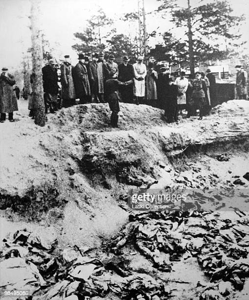 Nazi offcials at the exhumation site The Katyn Massacre of 1940 was w mass execution of Polish military officers by the Soviet Union during World War...