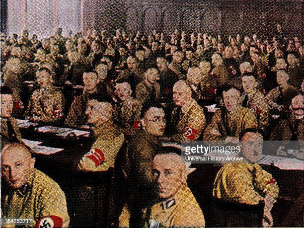 Nazi Party Deputies in the Reichstag Berlin Germany 1933