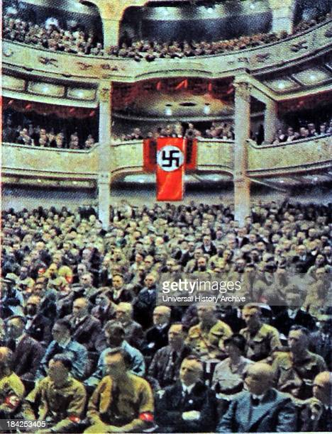 Nazi party rally at the National Theatre in Weimar Germany 192930
