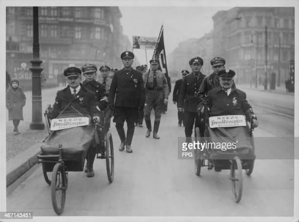 Nazi propaganda movement in action Berlin Germany January 5th 1936