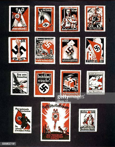Nazi propaganda stamps 20th century Germany Private collection