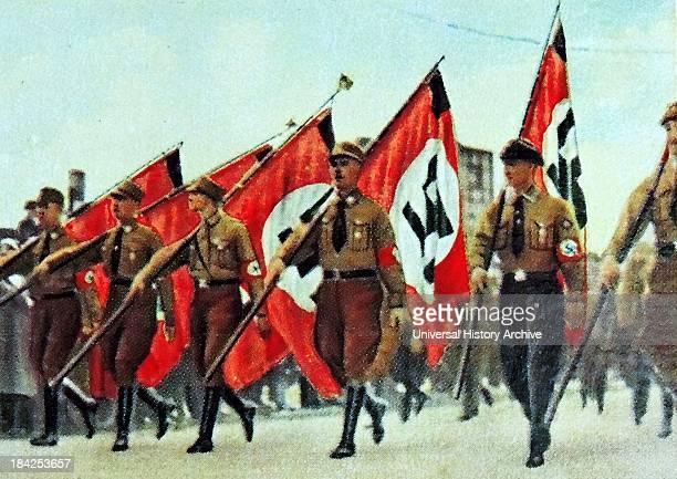 Nazi rally in Berlin circa 1933