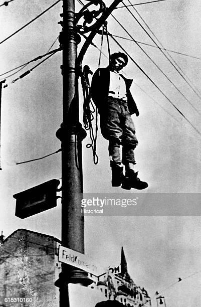 Nazi Victim Hangs From Lamppost