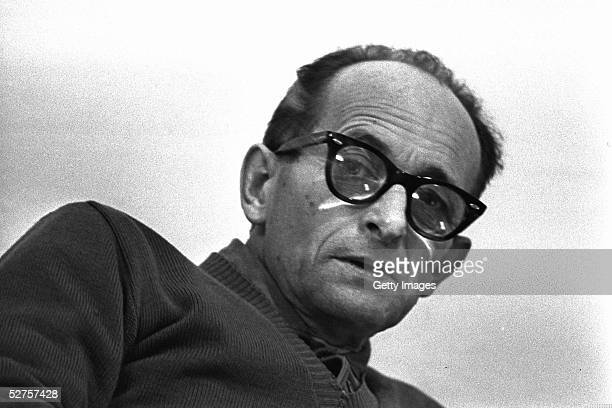 Nazi war criminal Adolph Eichmann in his prison cell April 15 1961 in Ramle central Israel The Israeli police donated Eichmann's original handprints...