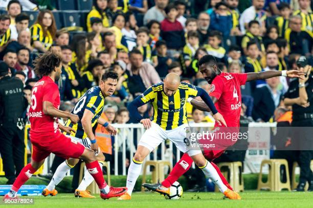 Nazim Sangare of Antalyaspor AS Giuliano Victor de Paula of Fenerbahce SK Aatif Chahechouhe of Fenerbahce SK Danon Issouf Johannes Djourou Gbadjere...