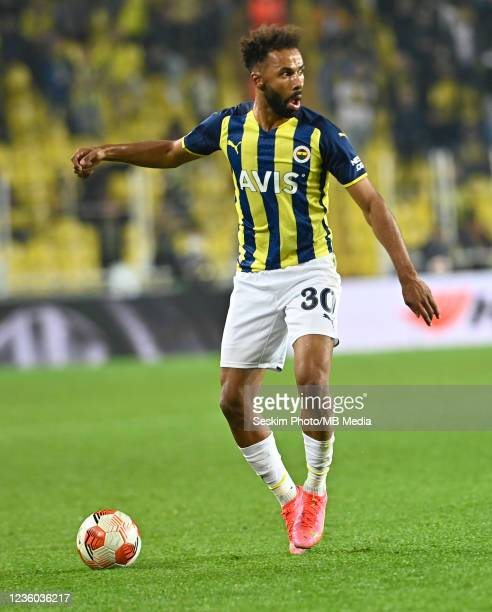 Nazim Sangare of Fenerbahce during the UEFA Europa League group D match between Fenerbahce and Royal Antwerp FC at sukru Saracoglu Stadium on October...