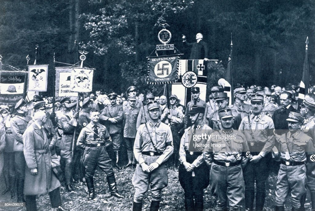 Nazis Listening To An Address By Bruno Doehring Bad Harzburg Germany 11th October 1931 : News Photo