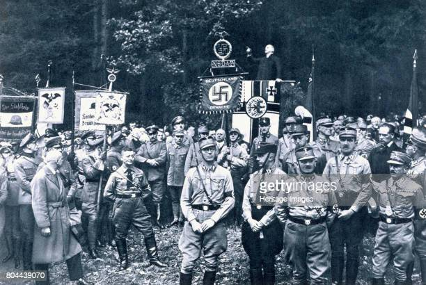 Nazis listening to an address by Bruno Doehring Bad Harzburg Germany 11th October 1931 Doehring was Court Chaplain in Berlin during World War I A...