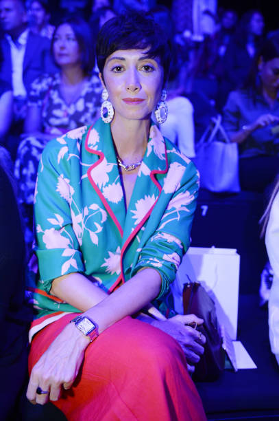 1e94833ae Nazli Kayran is seen at the Mercedes-Benz Istanbul Fashion Week at Zorlu  Center on