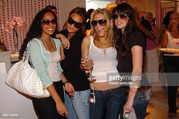 Nazlie Ulleh Shauna Roth Dara Kenigsberg and Rachel Siegel attend INTERMIX Store Opening with Hampton's Magazine at INTERMIX on July 16 2005 in...