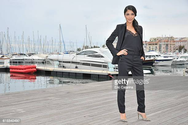 Nazneen Contractor attends the Ransom photocall during MIPCOM 2016 at Palais des Festivals on October 17 2016 in Cannes France