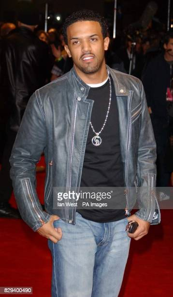 R'n'B singer Craig David arrives for the UK Music Hall Of Fame live final at the Hackney Empire in east London The Channel 4 series looking at...