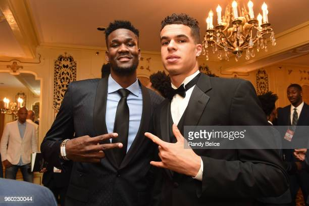 Nba Draft Prospects Mohamed Bamba and Michael Porter Jr are photographed during the 2018 NBA Draft Lottery at the Palmer House Hotel on May 15 2018...