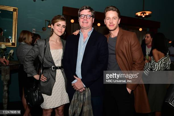 Entertainment Weekly party at SCAD a TVfest Empire State South restaurant February 9 2019 Pictured Melissa Roxburgh Manifest on NBC Bill Keith...