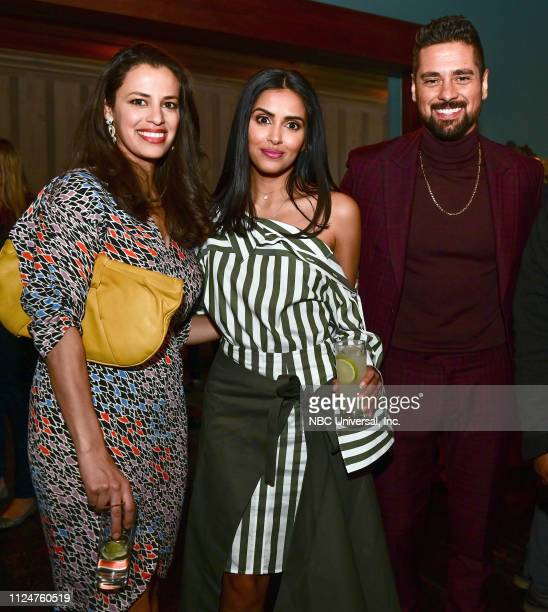 Entertainment Weekly party at SCAD a TVfest Empire State South restaurant February 9 2019 Pictured Athena Karkanis Parveen Kaur JR Ramirez Manifest...