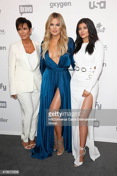 UPFRONT 2015 NBCUniversal Cable Entertainment Upfront at the Javits Center in New York City on Thursday May 14 2015 Pictured Kris Jenner Khloe...