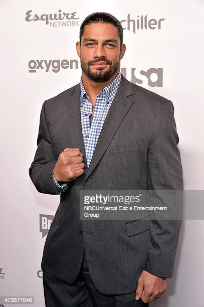 UPFRONT 2015 NBCUniversal Cable Entertainment Upfront at the Javits Center in New York City on Thursday May 14 2015 Pictured Roman Reigns WWE on USA...