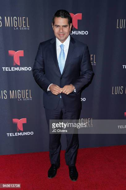 NBCUniversal executive Cesar Conde attends the screening of Telemundo's 'Luis Miguel La Serie' at a Private Residence on April 12 2018 in Beverly...