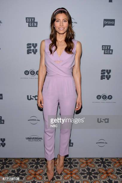 EVENTS NBCUniversal Holiday Kickoff Party at Beauty Essex in Los Angeles CA on Monday November 13 2017 Pictured Jessica Biel 'The Sinner' on USA...