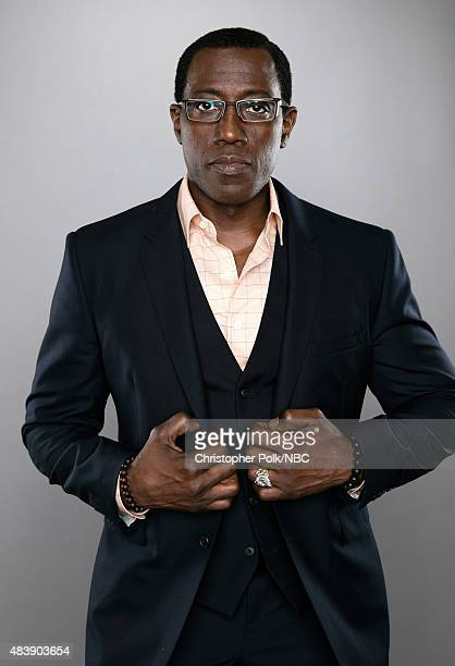 EVENTS NBCUniversal Portrait Studio August 2015 Pictured Actor Wesley Snipes from The Player poses for a portrait at the NBCUniversal Summer Press...