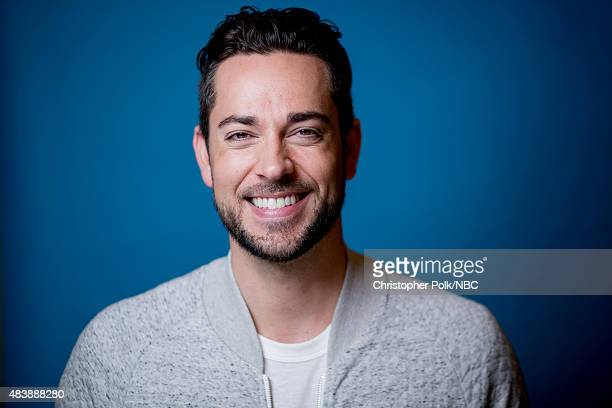 EVENTS NBCUniversal Portrait Studio August 2015 Pictured Actor Zachary Levi from Heroes Reborn poses for a portrait at the NBCUniversal Summer Press...