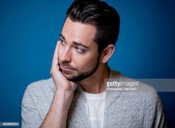 EVENTS NBCUniversal Portrait Studio August 2015 Pictured Actor Zachary Levi from 'Heroes Reborn' poses for a portrait at the NBCUniversal Summer...