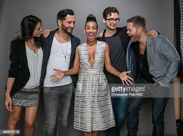 "NBCUniversal Portrait Studio, August 2015 -- Pictured: Actors Florence Faivre, Cas Anvar, Dominique Tipper, Steven Strait, and Wes Chatham from ""The..."
