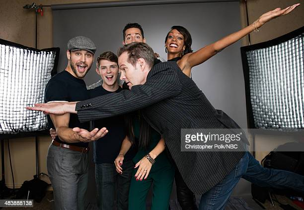 EVENTS NBCUniversal Portrait Studio August 2015 Pictured Actors Ryan Guzman Robbie Kay Zachary Levi Kiki Sukezane Judi Shekoni and Jack Coleman from...