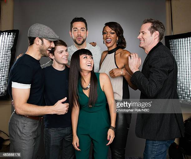 EVENTS NBCUniversal Portrait Studio August 2015 Pictured Actors Ryan Guzman Robbie Kay Zachary Levi Kiki Sukezane Judi Shekoni and Jack Coleman from...