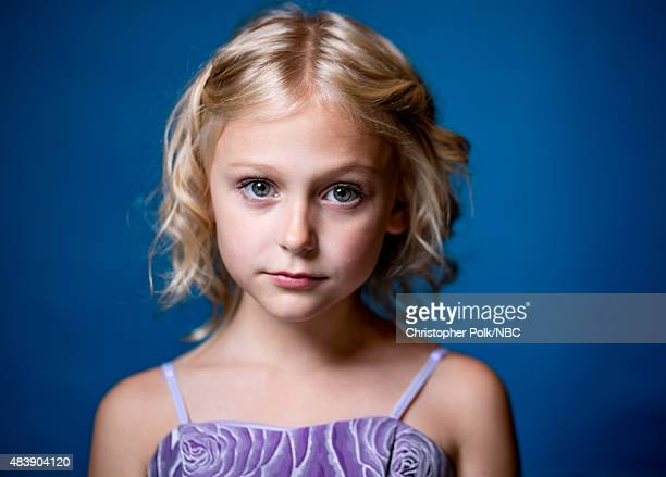 EVENTS NBCUniversal Portrait Studio August 2015 Pictured Actress Alyvia Alyn Lind from Coat of Many Colors poses for a portrait at the NBCUniversal...