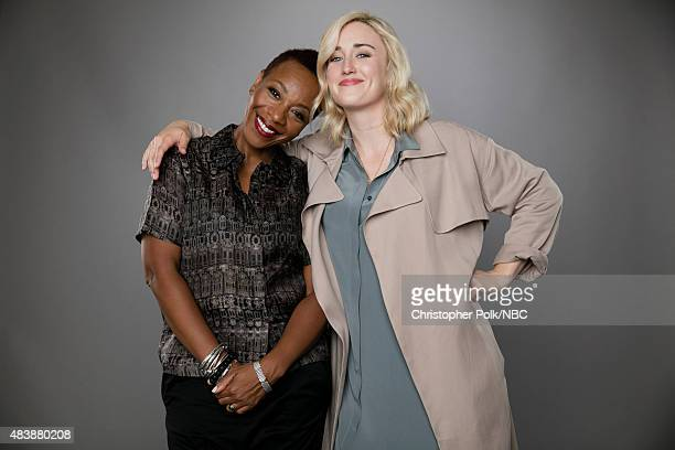 EVENTS NBCUniversal Portrait Studio August 2015 Pictured Actresses Marianne JeanBaptiste and Ashley Johnson from Blindspot pose for a portrait at the...