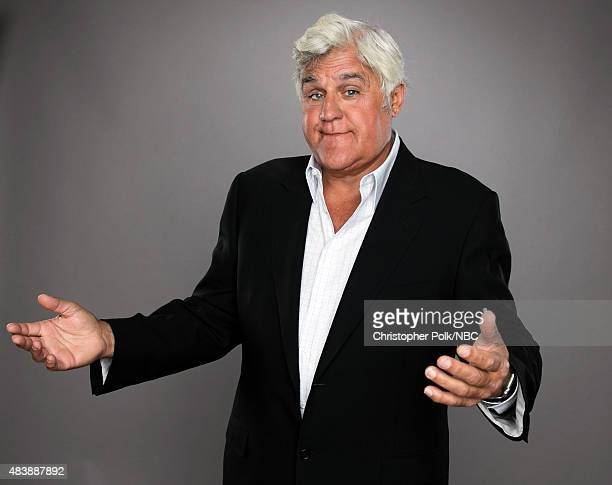 EVENTS NBCUniversal Portrait Studio August 2015 Pictured TV personality Jay Leno from Jay Leno's Garage poses for a portrait at the NBCUniversal...