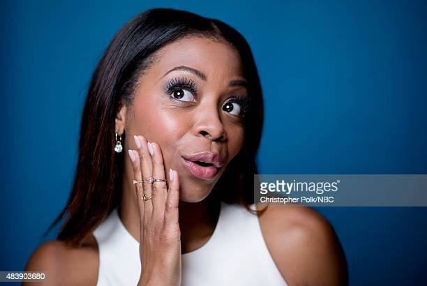 EVENTS NBCUniversal Portrait Studio August 2015 Pictured TV personality Bresha Webb from Truth Be Told poses for a portrait at the NBCUniversal...