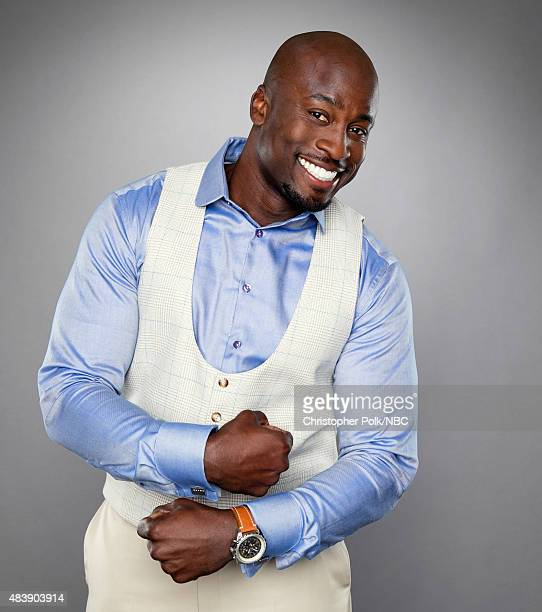 EVENTS NBCUniversal Portrait Studio August 2015 Pictured TV personality Akbar Gbajabiamila from 'American Ninja Warrior' poses for a portrait at the...