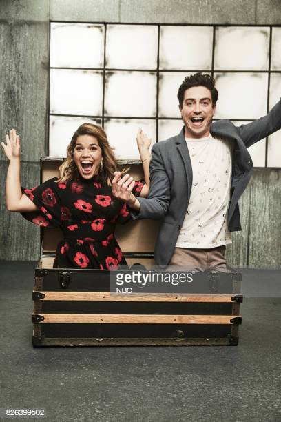 EVENTS NBCUniversal Portrait Studio August 2017 Pictured Ben Feldman America Ferrera 'Superstore'