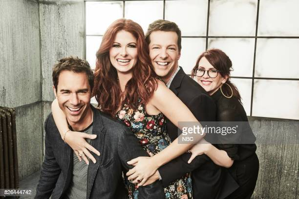 EVENTS NBCUniversal Portrait Studio August 2017 Pictured Sean Hayes Eric McCormack Debra Messing Megan Mullally Will Grace